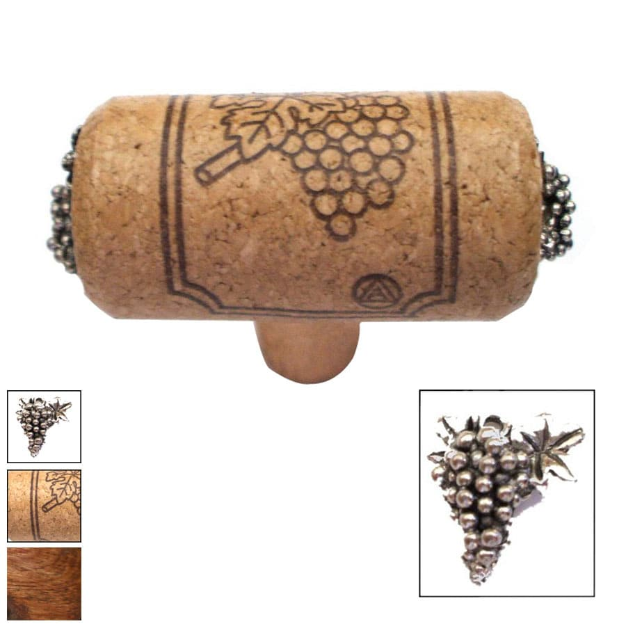 Vine Designs Vineyard Walnut Novelty Cabinet Knob