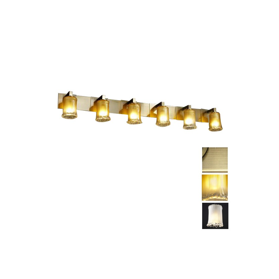 Cascadia Lighting 6 Light Veneto Luce Modular Antique Brass Bathroom