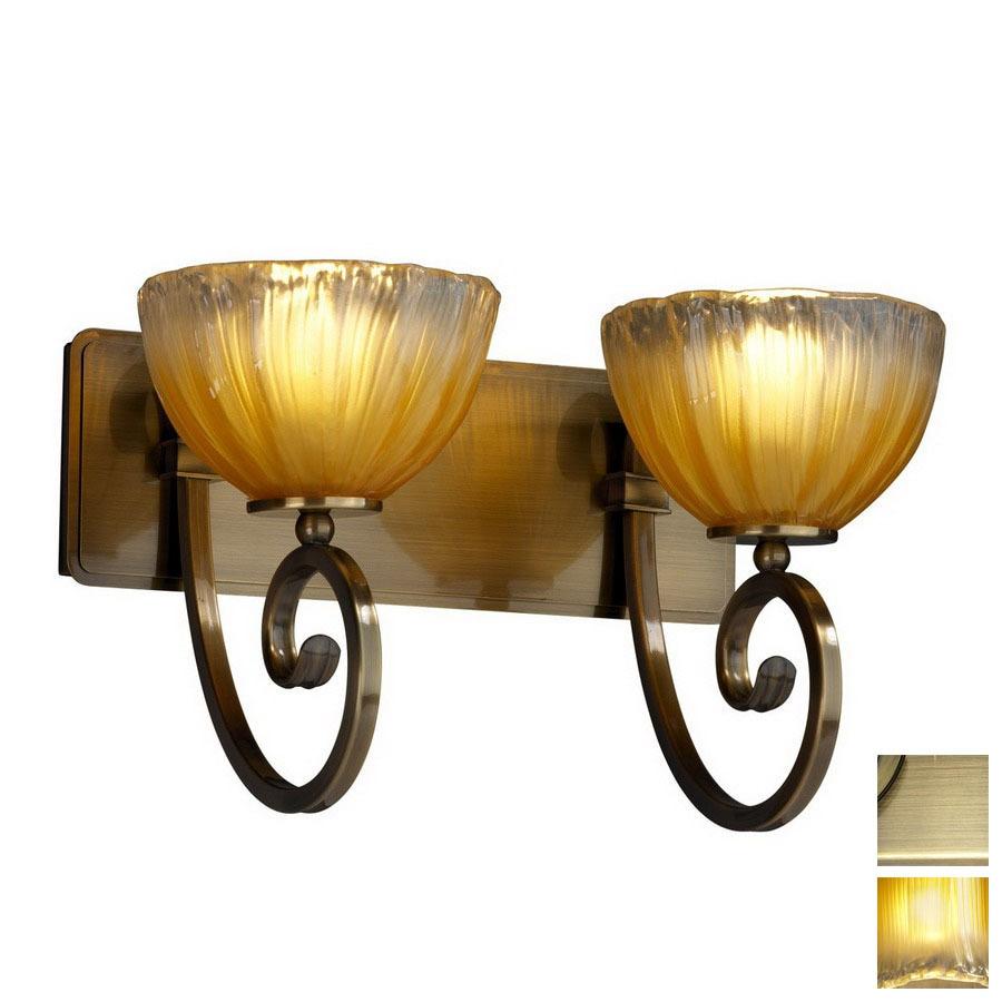 Shop Cascadia Lighting 2-Light Veneto Luce Victoria Antique Brass ...