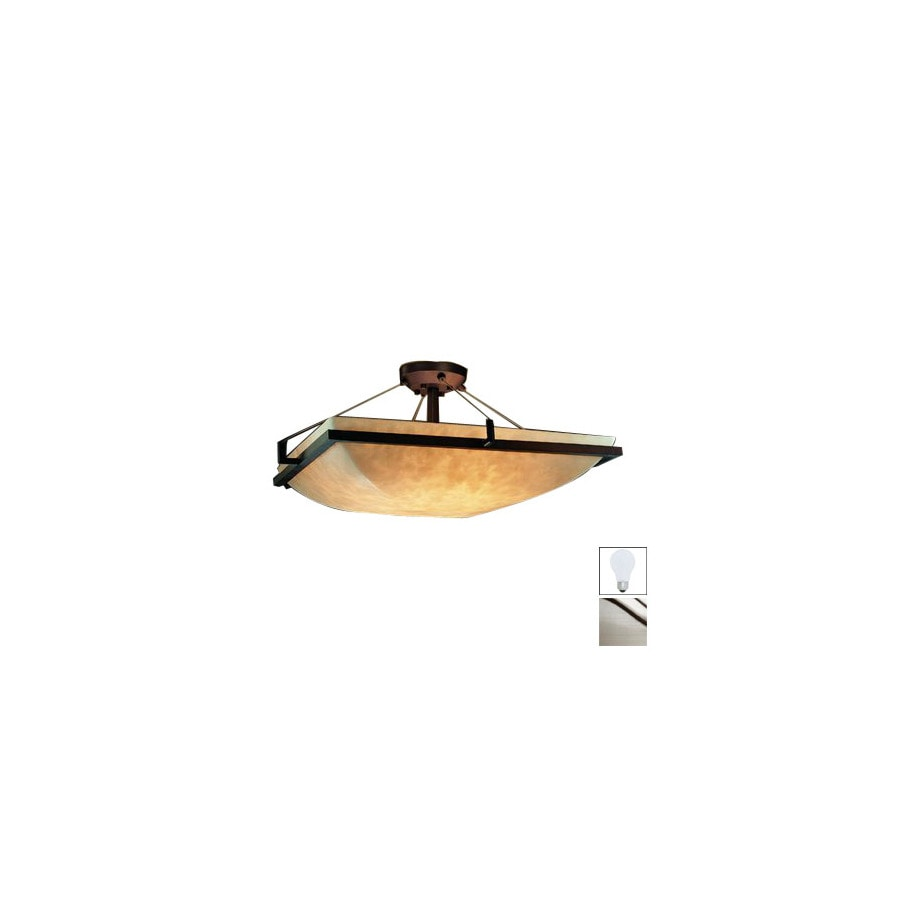 Cascadia Lighting 20-in W Brushed Nickel Semi-Flush Mount Light