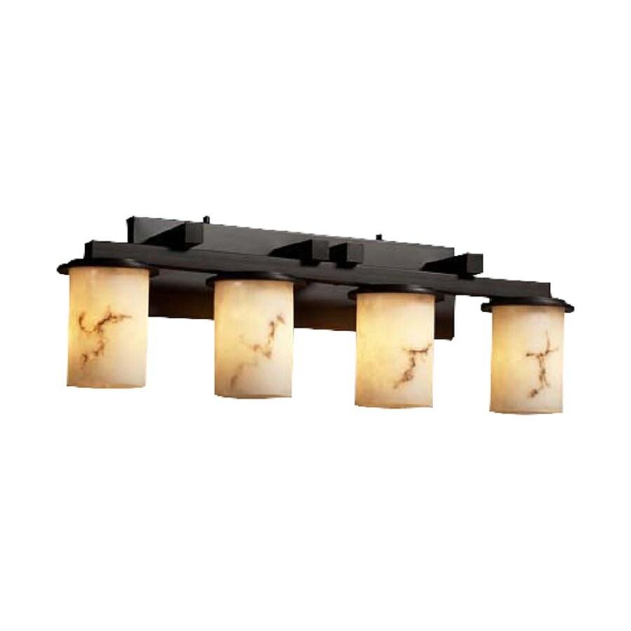 Shop Cascadia Lighting 4 Light Lumenaria Dakota Dark Bronze Bathroom Vanity Light At