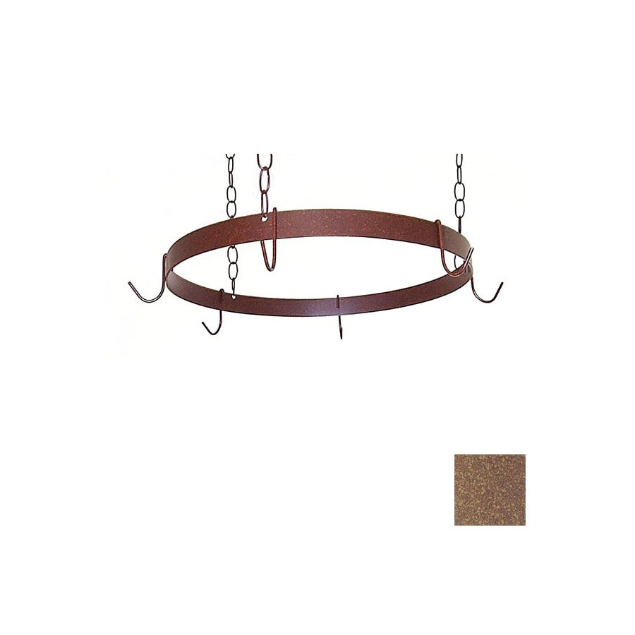 Grace Collection 20-in x 20-in Burnished Copper Round Pot Rack