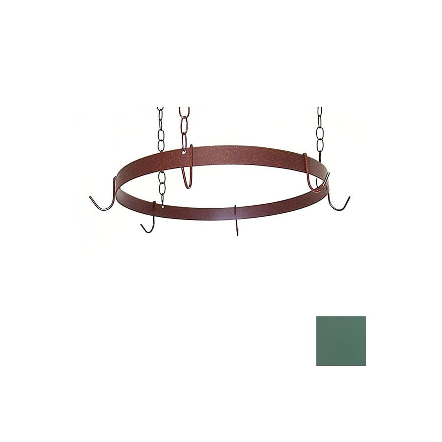 Grace Collection 20-in x 20-in Jade Teal Round Pot Rack