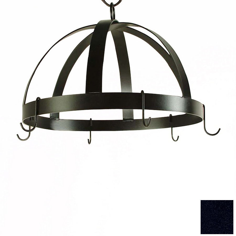 Grace Collection 20-in x 20-in Satin Black Dome Pot Rack