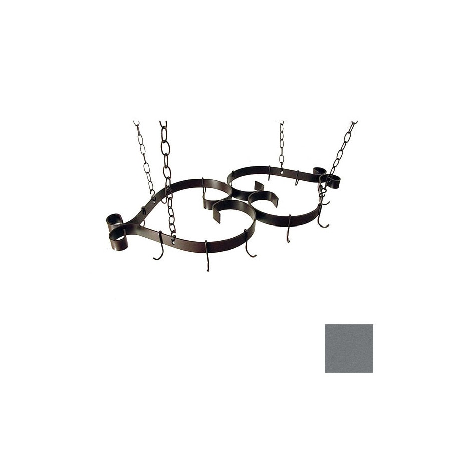 Grace Collection 35-in x 16-in Gun Metal Pot Rack