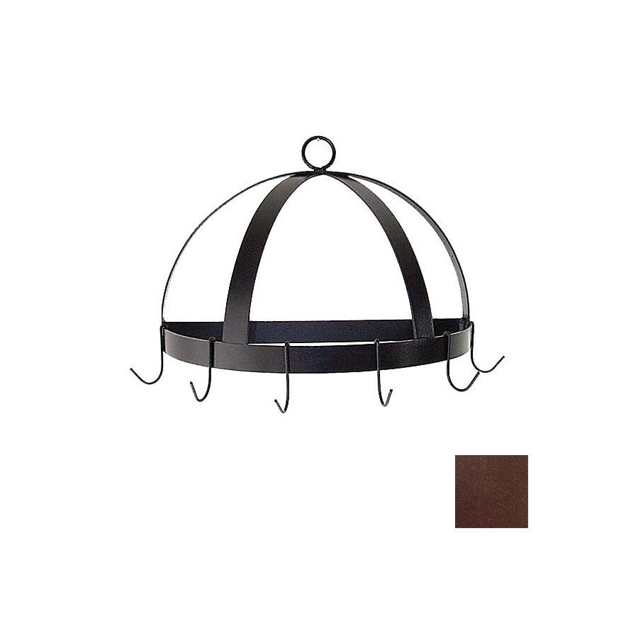 Grace Collection 20-in x 10-in Aged Iron Half Dome Pot Rack