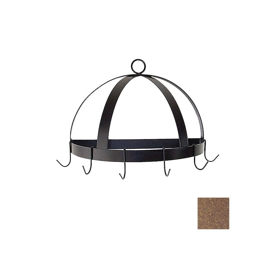 Grace Collection 20-in x 10-in Burnished Copper Half Dome Pot Rack