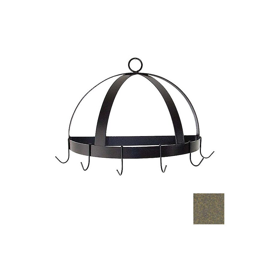 Grace Collection 20-in x 10-in Antique Bronze Half Dome Pot Rack