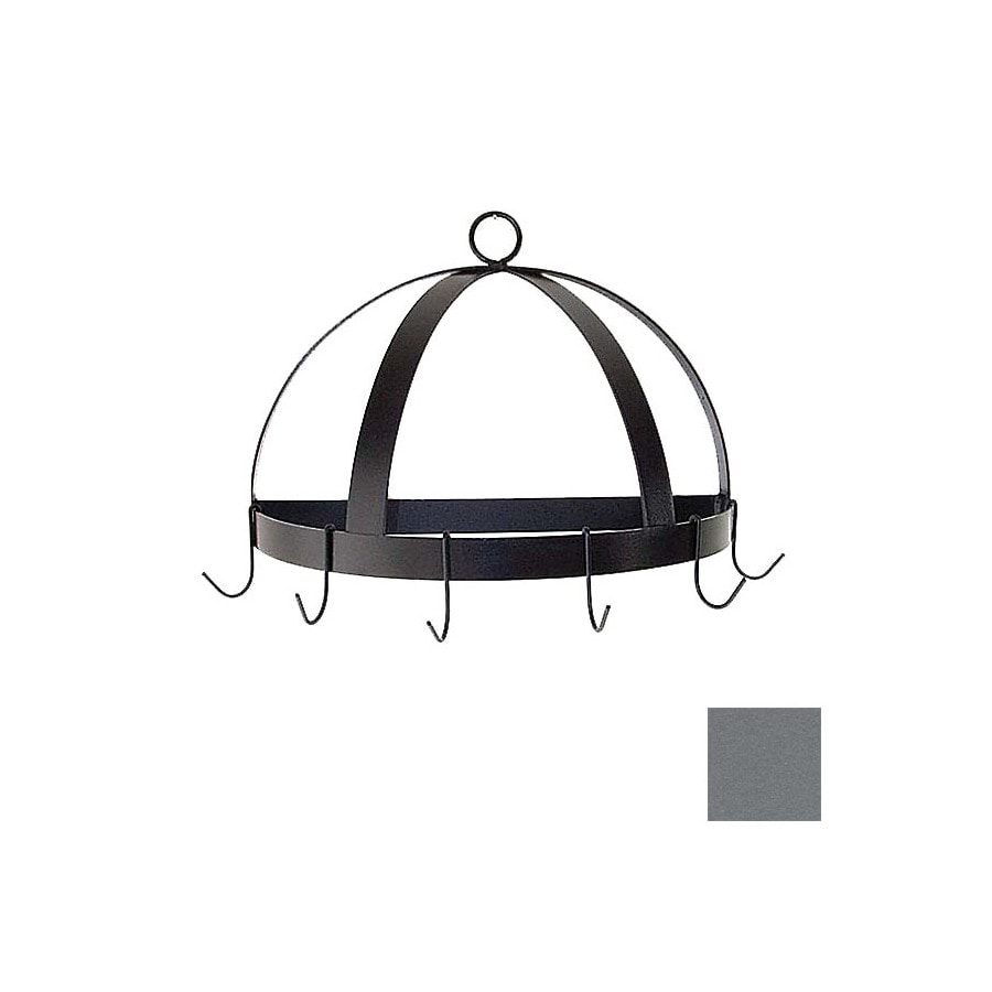 Grace Collection 20-in x 10-in Gun Metal Half Dome Pot Rack