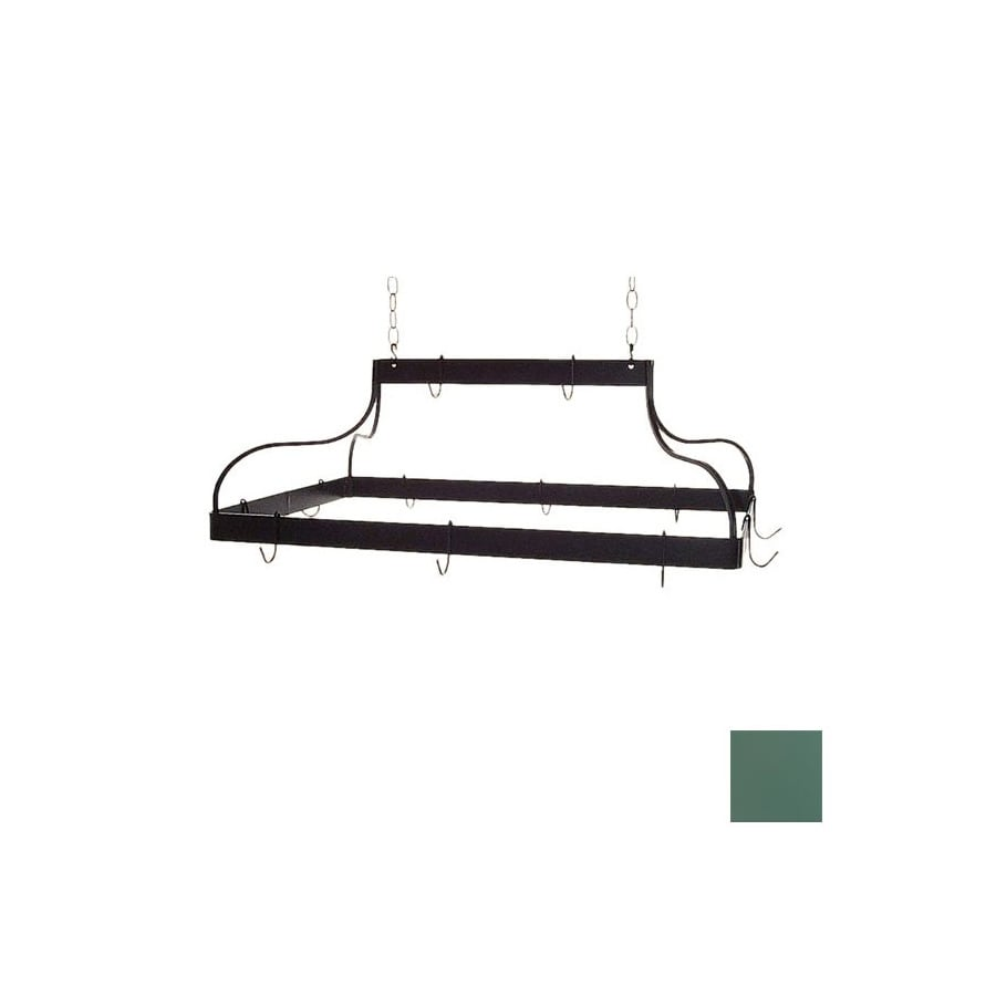 Grace Collection 36-in x 18-in Jade Teal Rectangle Pot Rack