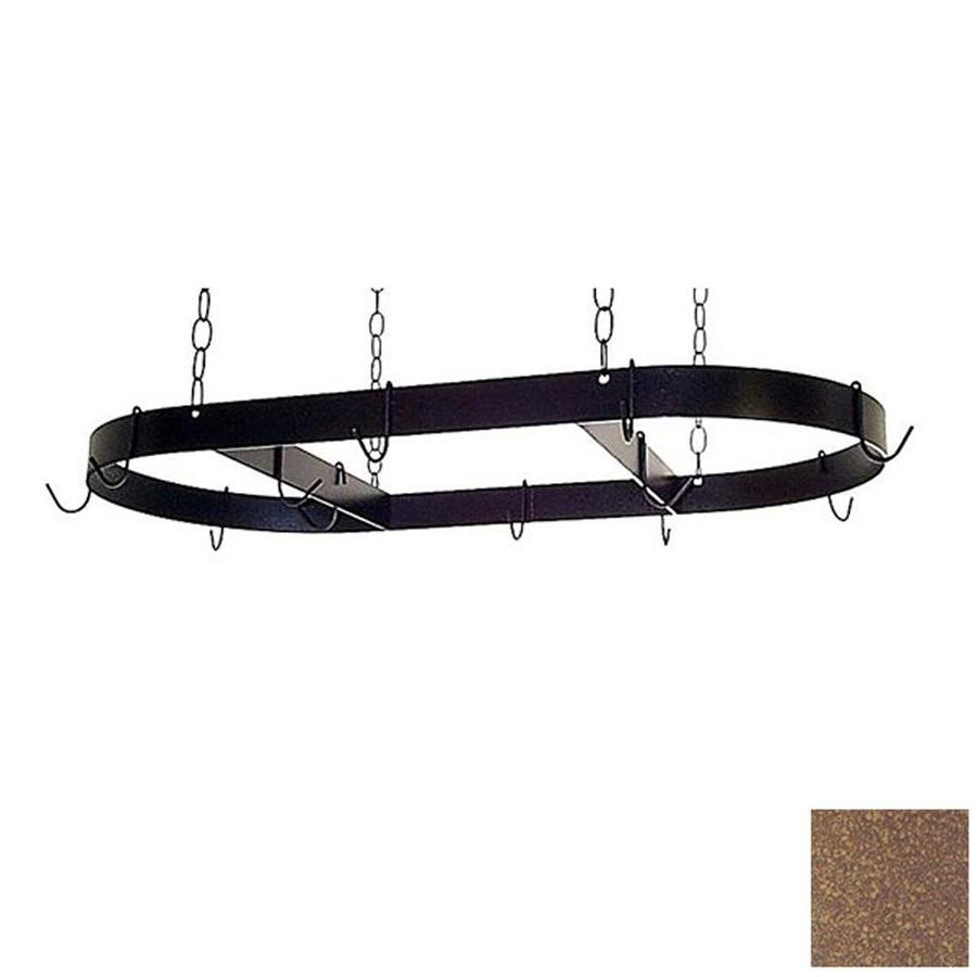 Grace Collection 36-in x 18-in Burnished Copper Oval Pot Rack