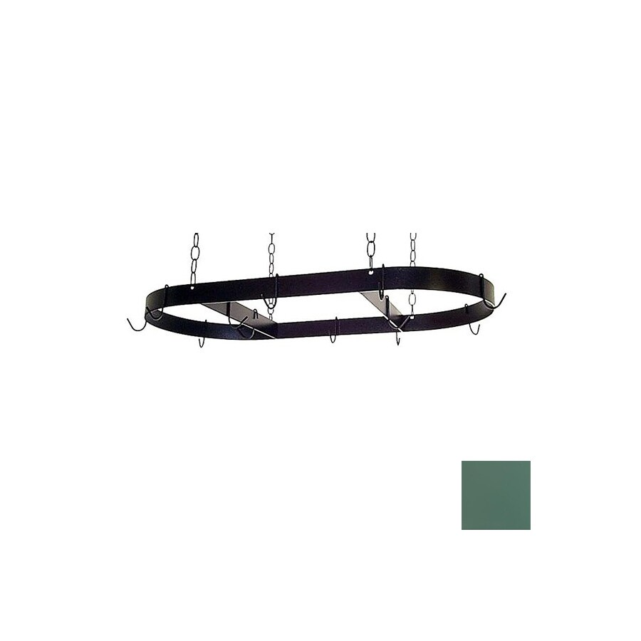 Grace Collection 36-in x 18-in Jade Teal Oval Pot Rack