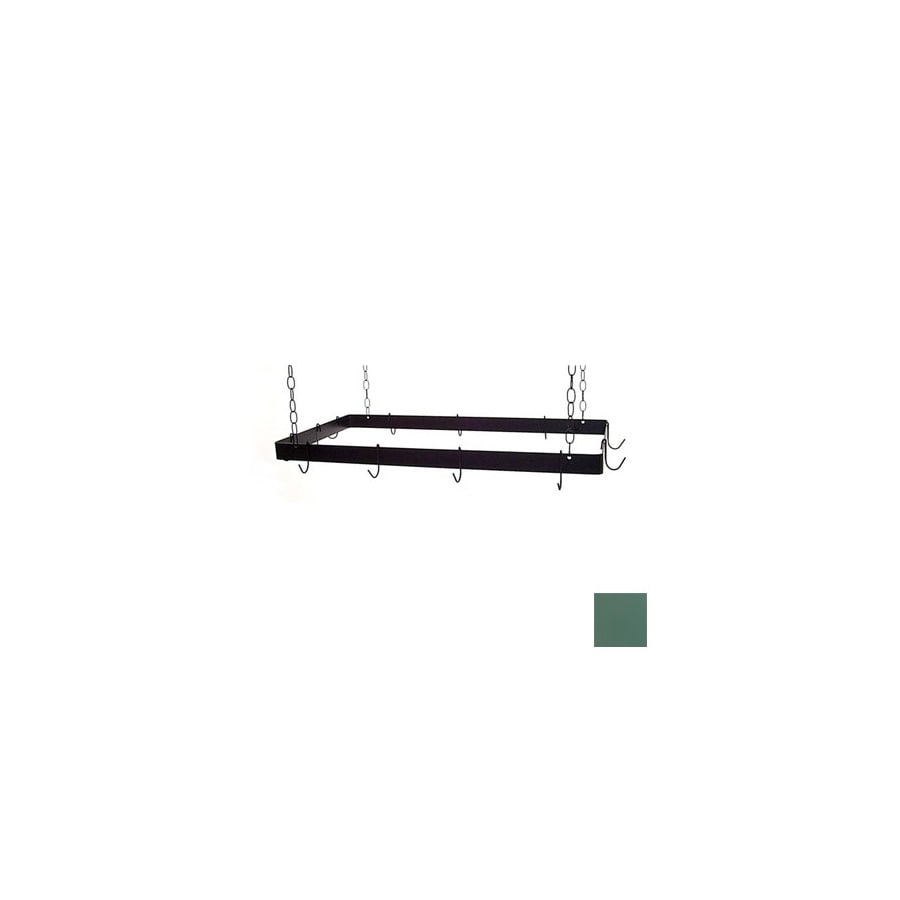 Grace Collection 30-in x 15-in Jade Teal Rectangle Pot Rack