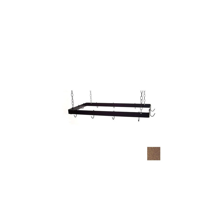 Grace Collection 36-in x 18-in Burnished Copper Rectangle Pot Rack