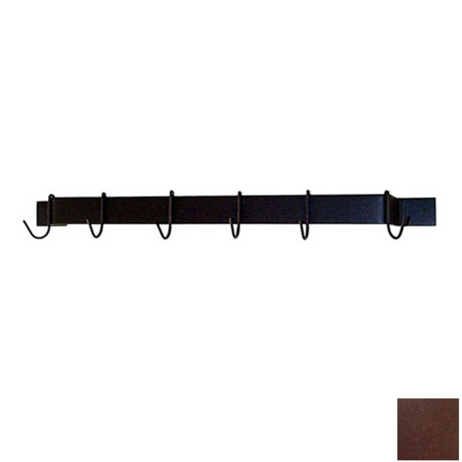 Grace Collection 24-in x 3-in Aged Iron Bar Pot Rack