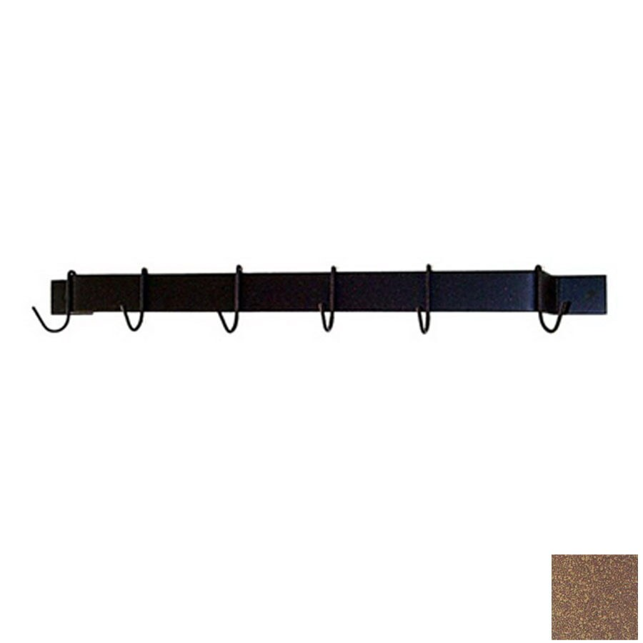 Grace Collection 24-in x 3-in Burnished Copper Bar Pot Rack