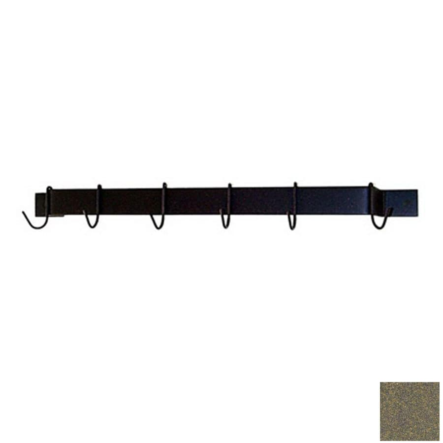 Grace Collection 24-in x 3-in Antique Bronze Bar Pot Rack