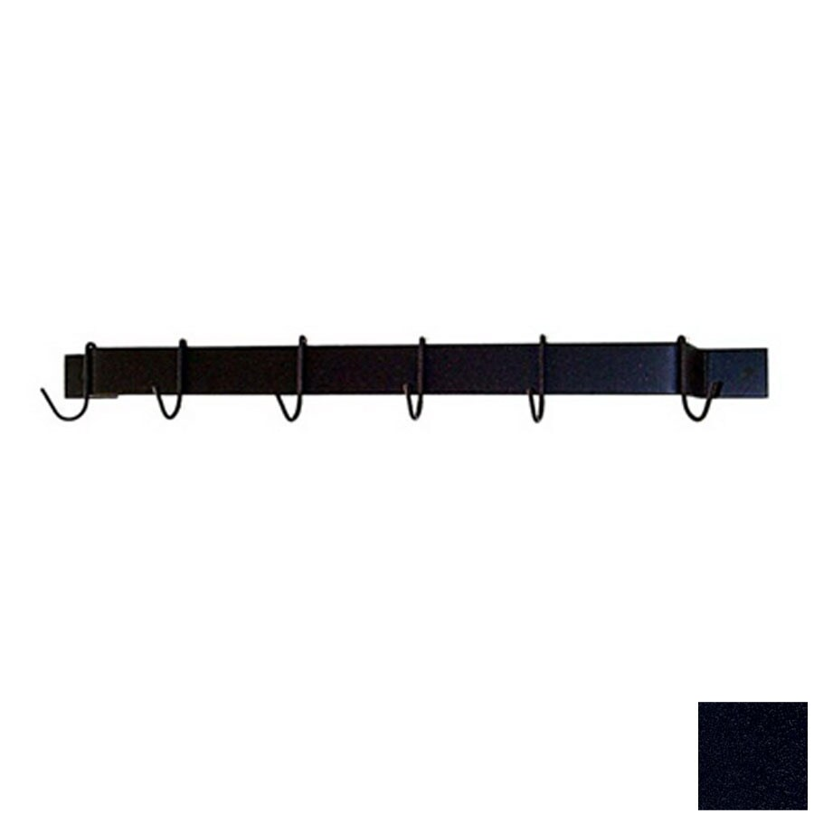Grace Collection 24-in x 3-in Satin Black Bar Pot Rack