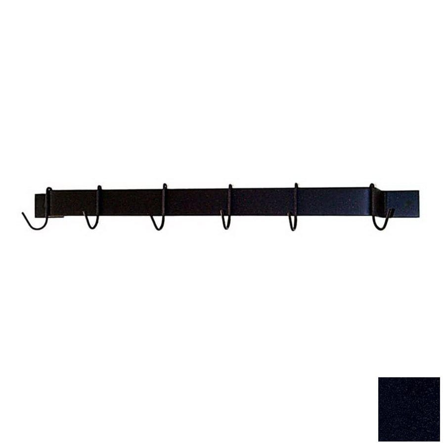 Grace Collection 30-in x 3-in Satin Black Bar Pot Rack