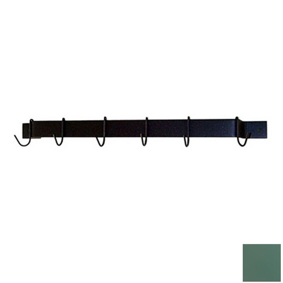 Grace Collection 36-in x 3-in Jade Teal Bar Pot Rack