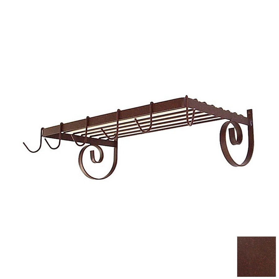 Grace Collection 24-1/2-in x 13-in Aged Iron Rectangle Pot Rack