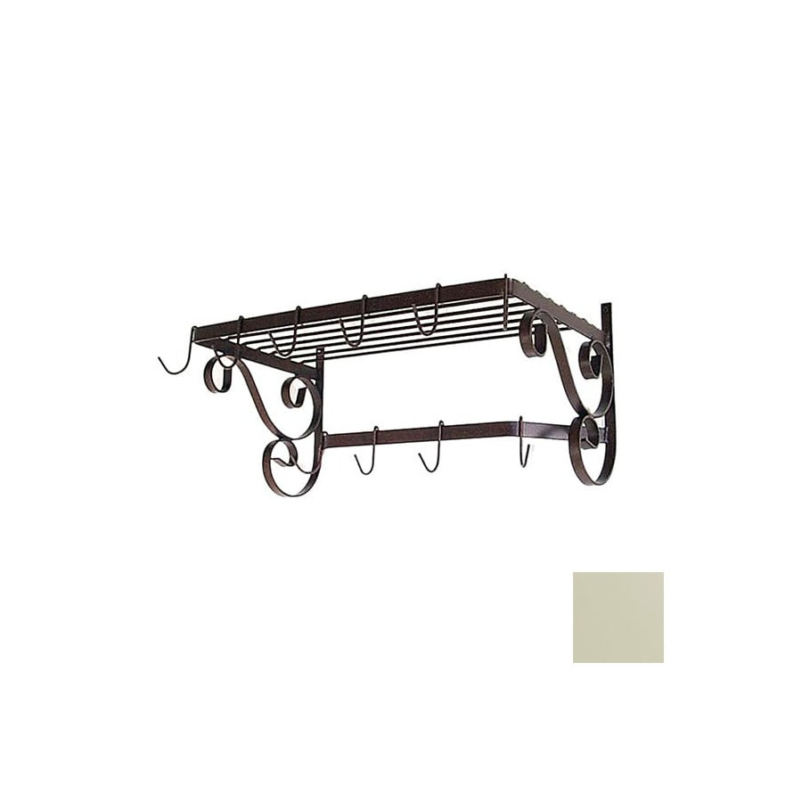 Grace Collection 24-1/2-in x 13-in Ivory Rectangle Pot Rack