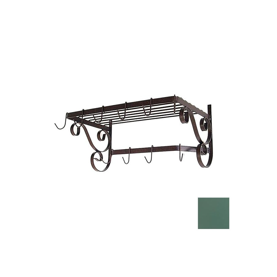 Grace Collection 24-1/2-in x 13-in Jade Teal Rectangle Pot Rack