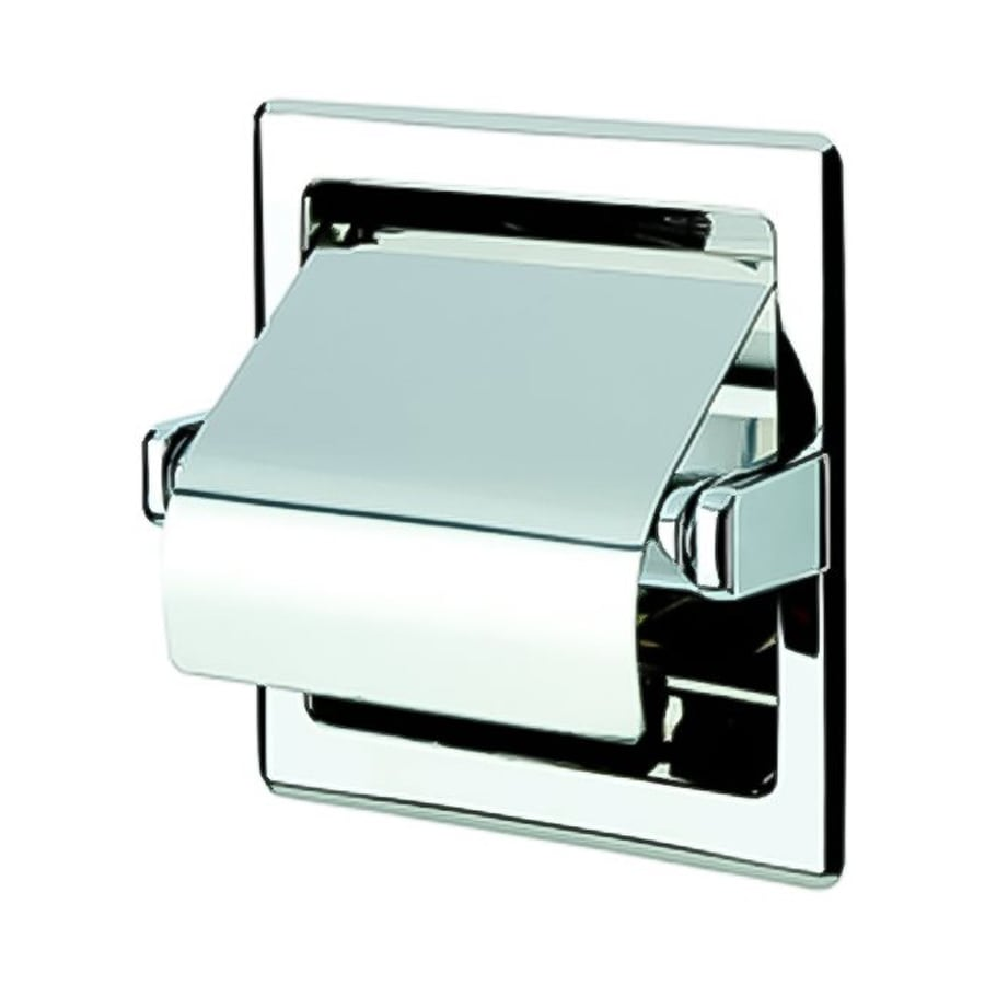 Nameeks Standard Hotel Chrome Recessed Toilet Paper Holder with Cover