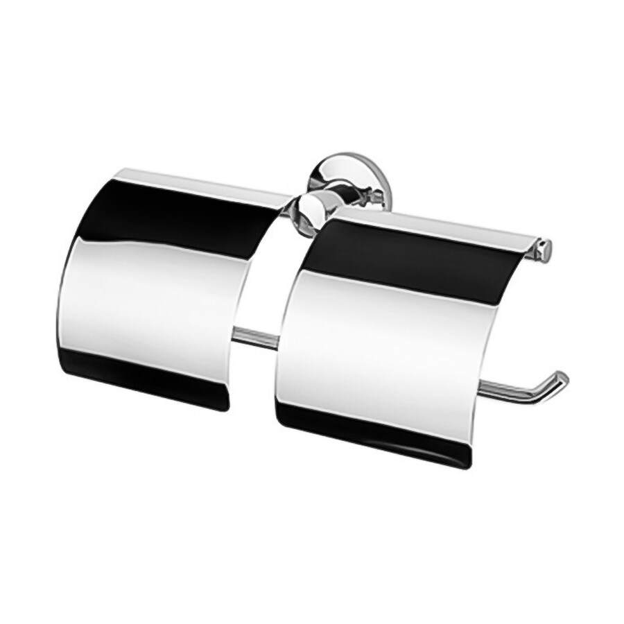 Nameeks Standard Hotel Chrome Surface Mount Toilet Paper Holder with Cover