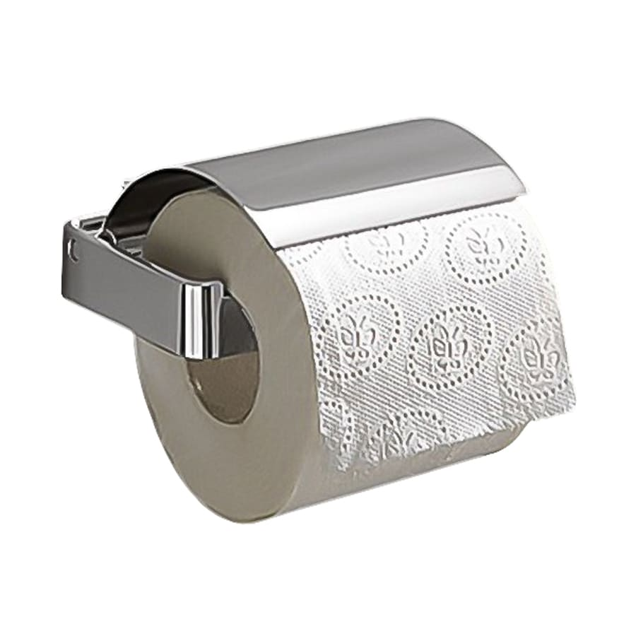 Nameeks Gedy Chrome Surface Mount Toilet Paper Holder with Cover