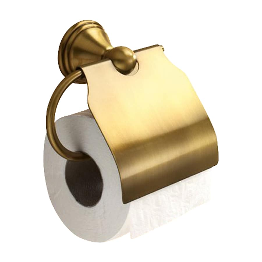 Nameeks Romance Bronze Surface Mount Toilet Paper Holder with Cover