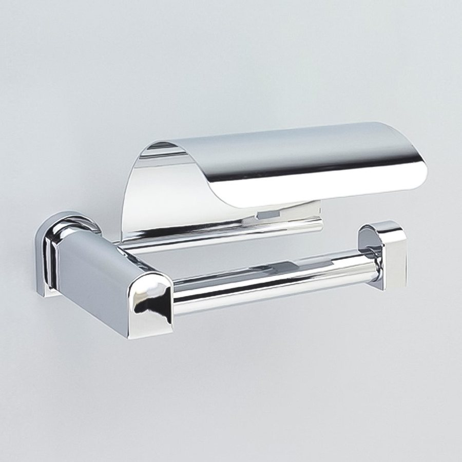Nameeks Bellaterra Chrome Surface Mount Toilet Paper Holder with Cover