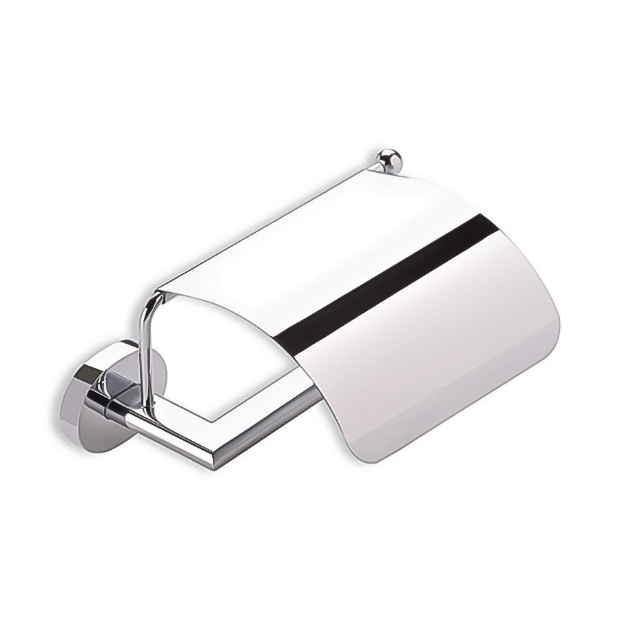 Nameeks Diana Chrome Surface Mount Toilet Paper Holder with Cover