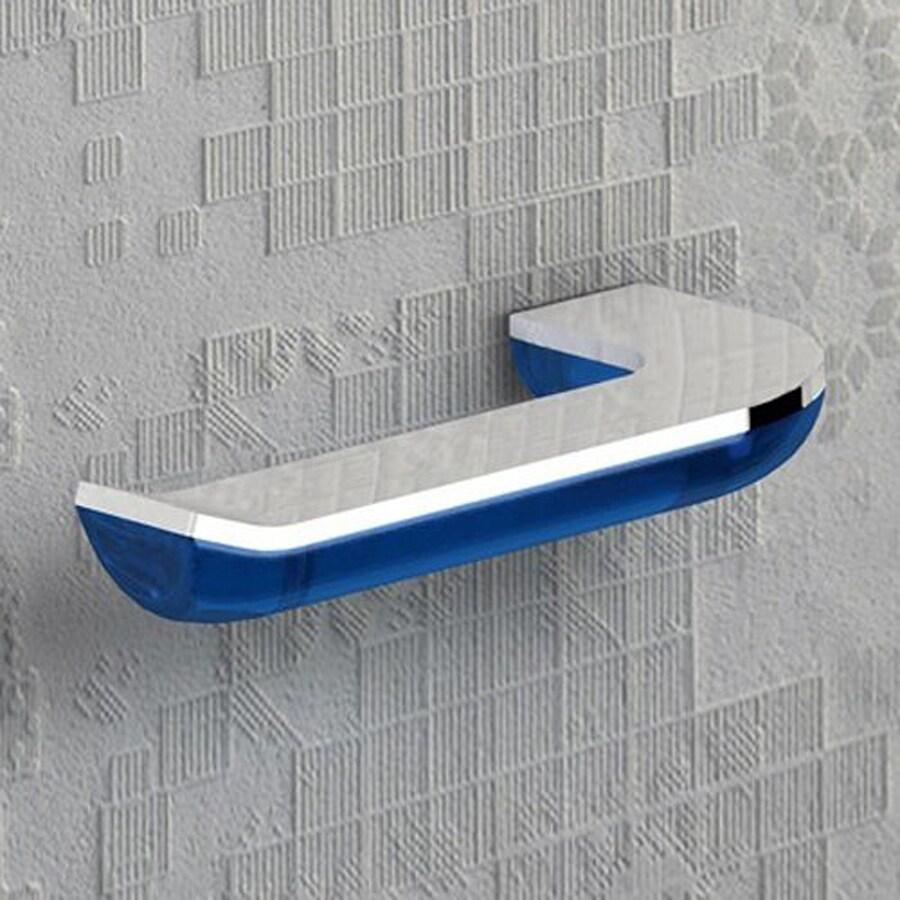 Nameeks Bijou Transparent Light Blue/Chrome Surface Mount Toilet Paper Holder