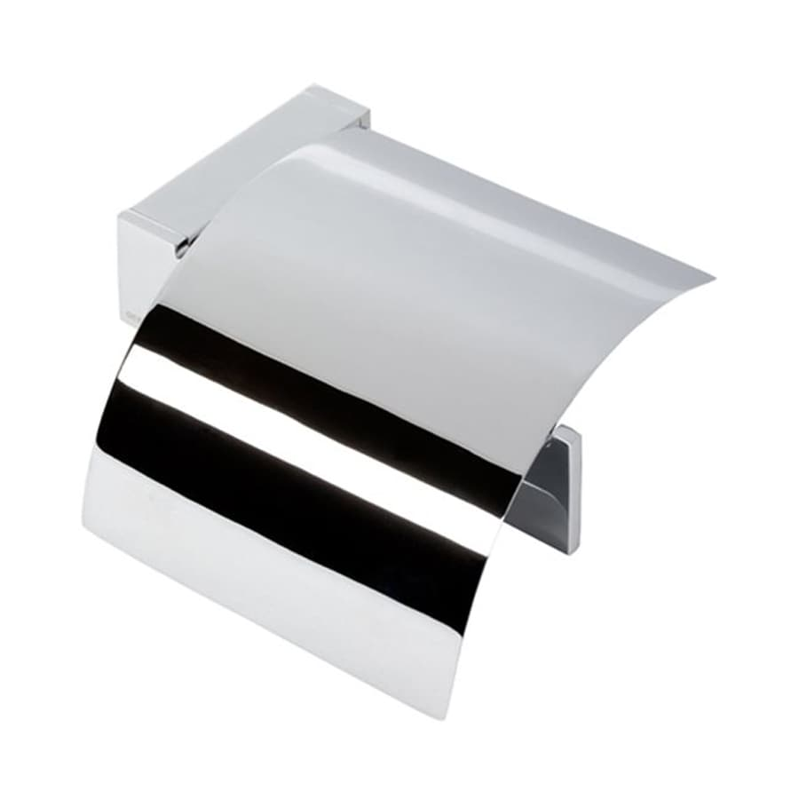 Nameeks Modern Art Chrome Surface Mount Toilet Paper Holder with Cover
