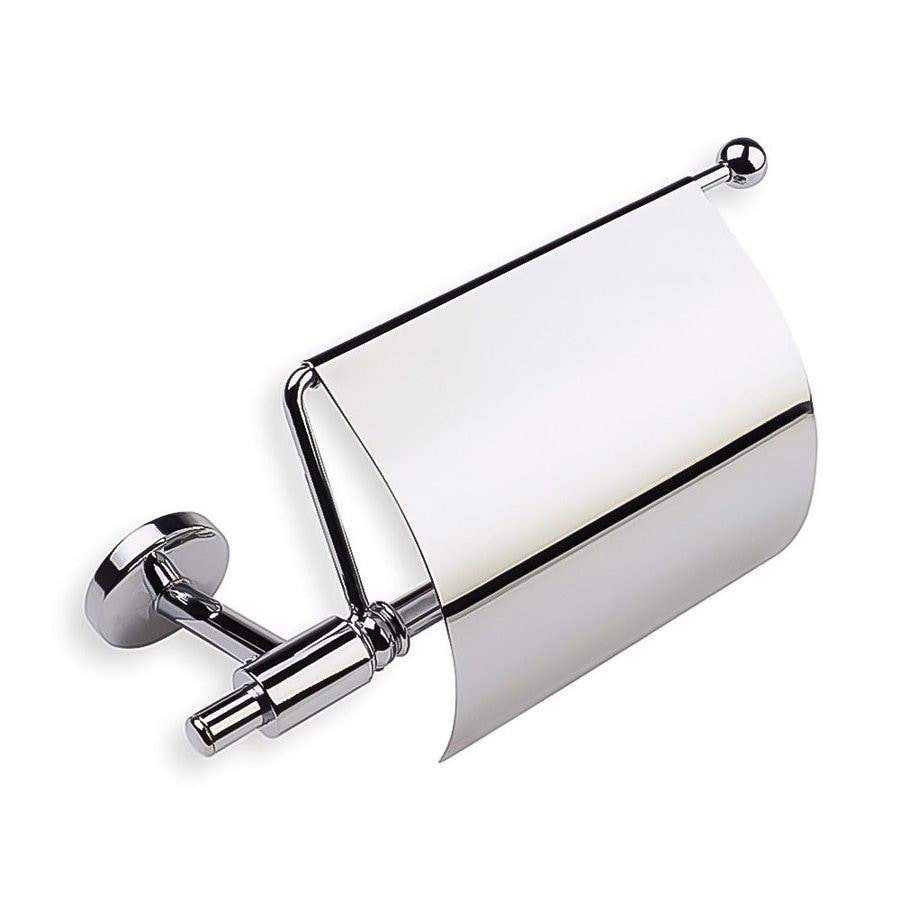 Nameeks Pegaso Chrome Surface Mount Toilet Paper Holder with Cover