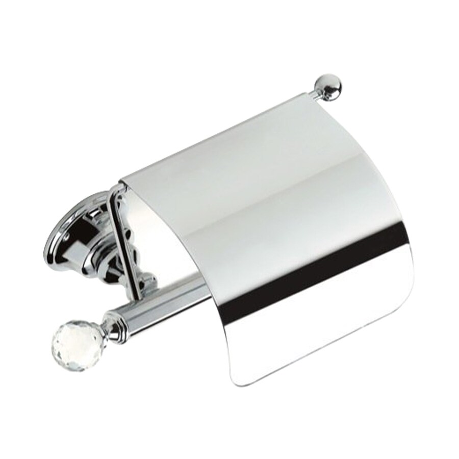 Nameeks Smart Light Chrome Surface Mount Toilet Paper Holder with Cover
