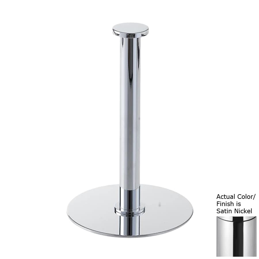 Nameeks Stilhaus Fluyd Satin Nickel Freestanding Countertop Toilet Paper Holder