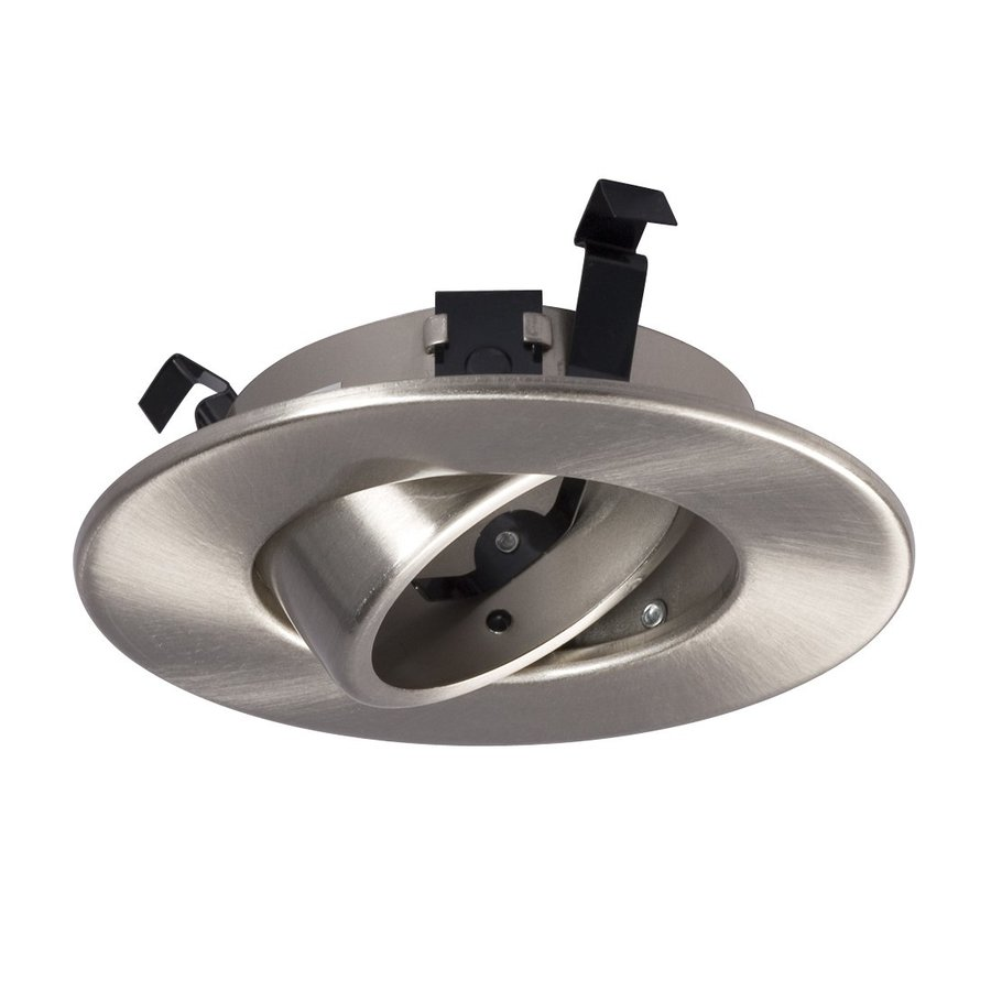 Galaxy Brushed Nickel Gimbal Recessed Light Trim (Fits Housing Diameter: 4-in)