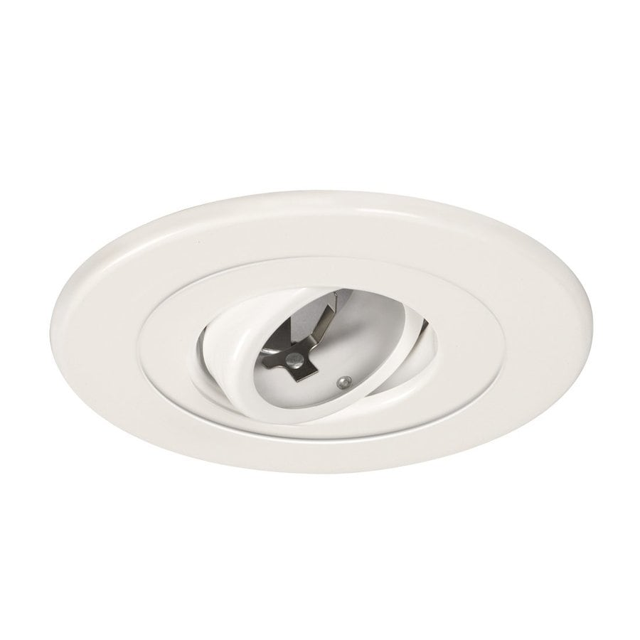 Galaxy White Gimbal Recessed Light Trim (Fits Housing Diameter: 5-in)