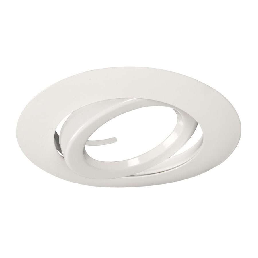 shop galaxy white gimbal recessed light trim fits housing. Black Bedroom Furniture Sets. Home Design Ideas