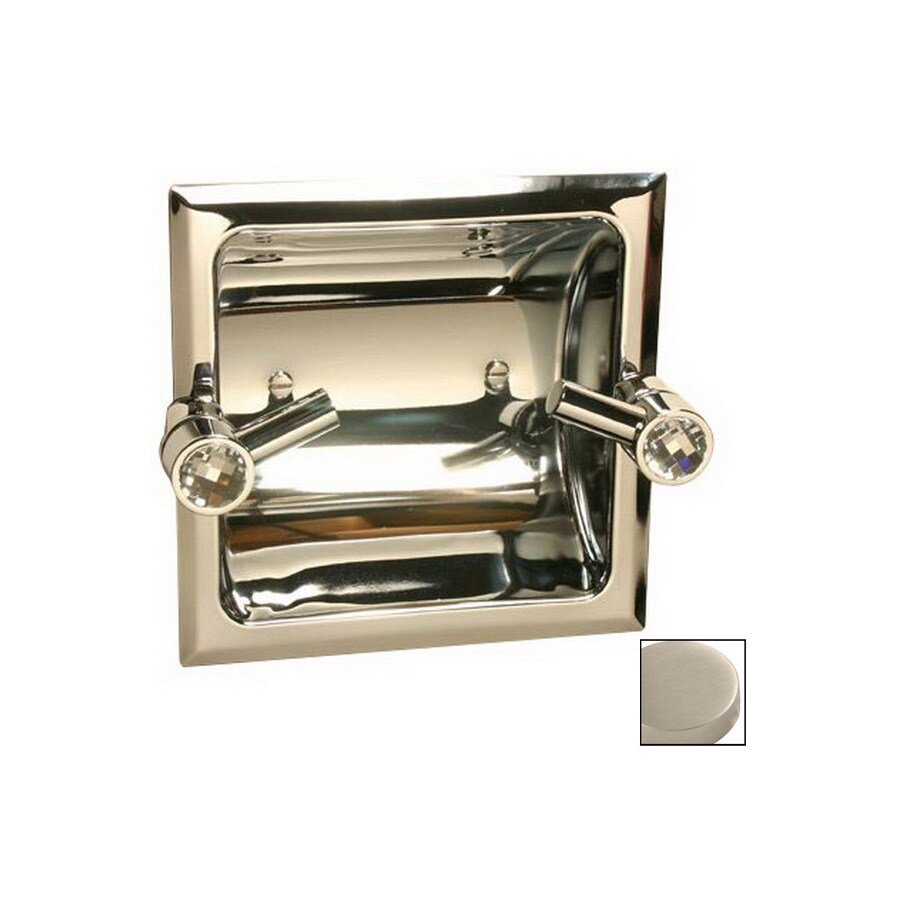 Paul Decorative Products Clics Satin Nickel Recessed Toilet Paper Holder