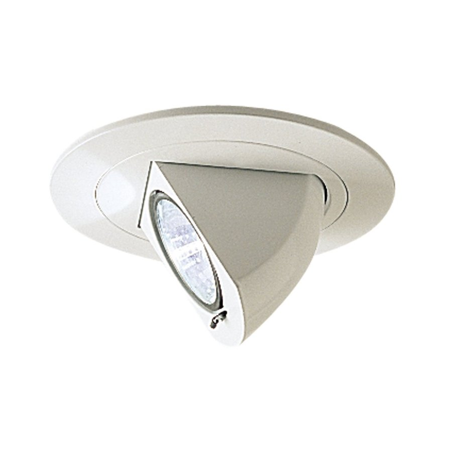 Nora Lighting Round White Fully Adjustable Recessed Light Trim