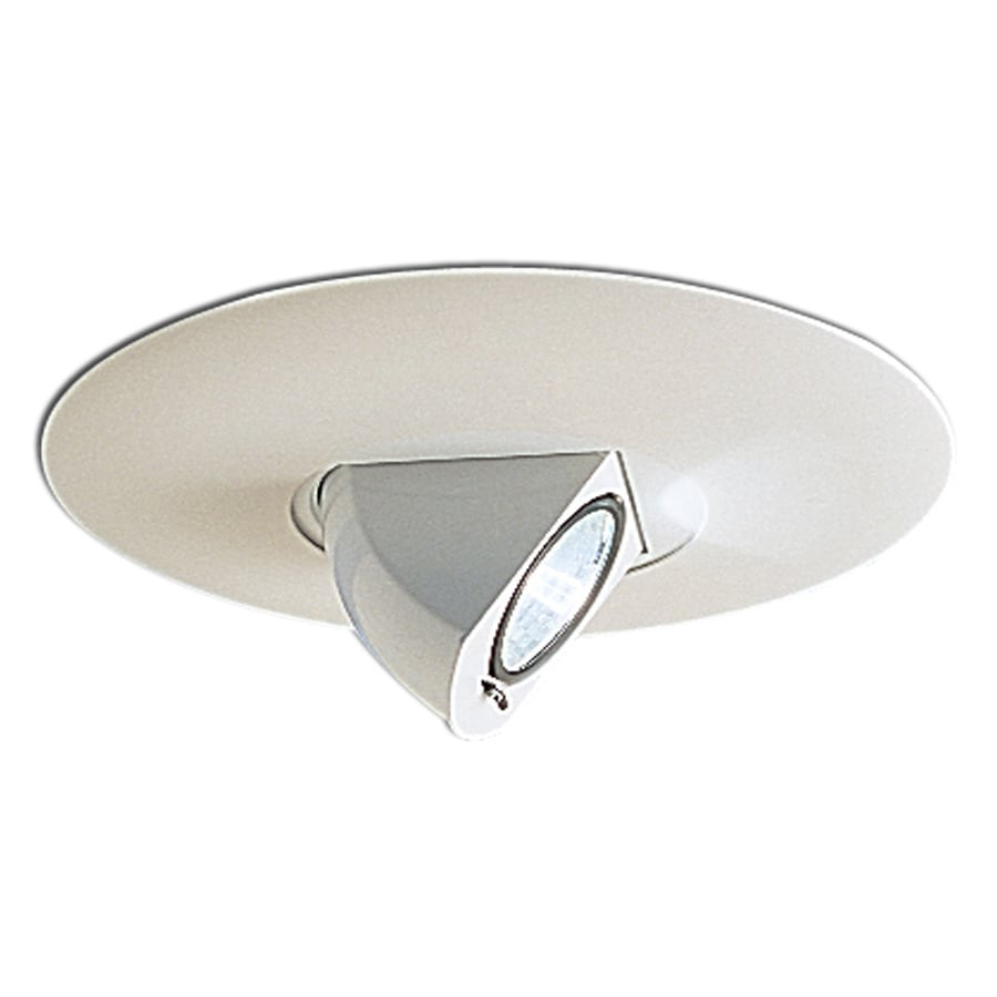 Recessed Lighting Torsion Spring Bracket : Nora lighting white eyeball recessed light trim fits