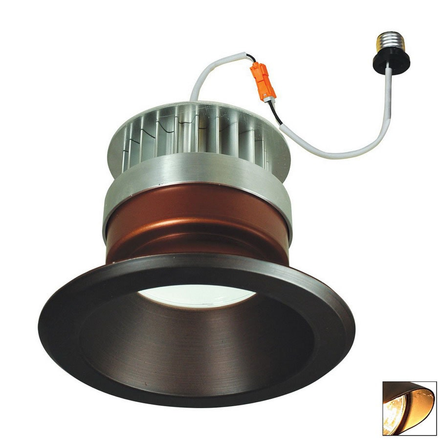 Nora Lighting 6-in Bronze Open Recessed Lighting Trim