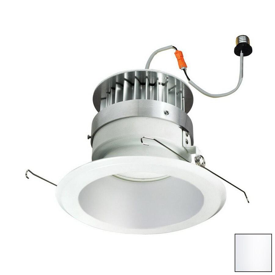 Nora Lighting 6-in White Open Recessed Lighting Trim