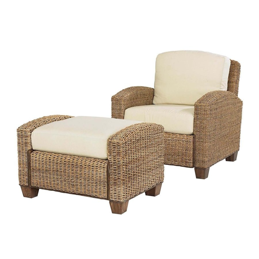 Home Styles Cabana Banana Honey Cotton Accent Chair with Ottoman
