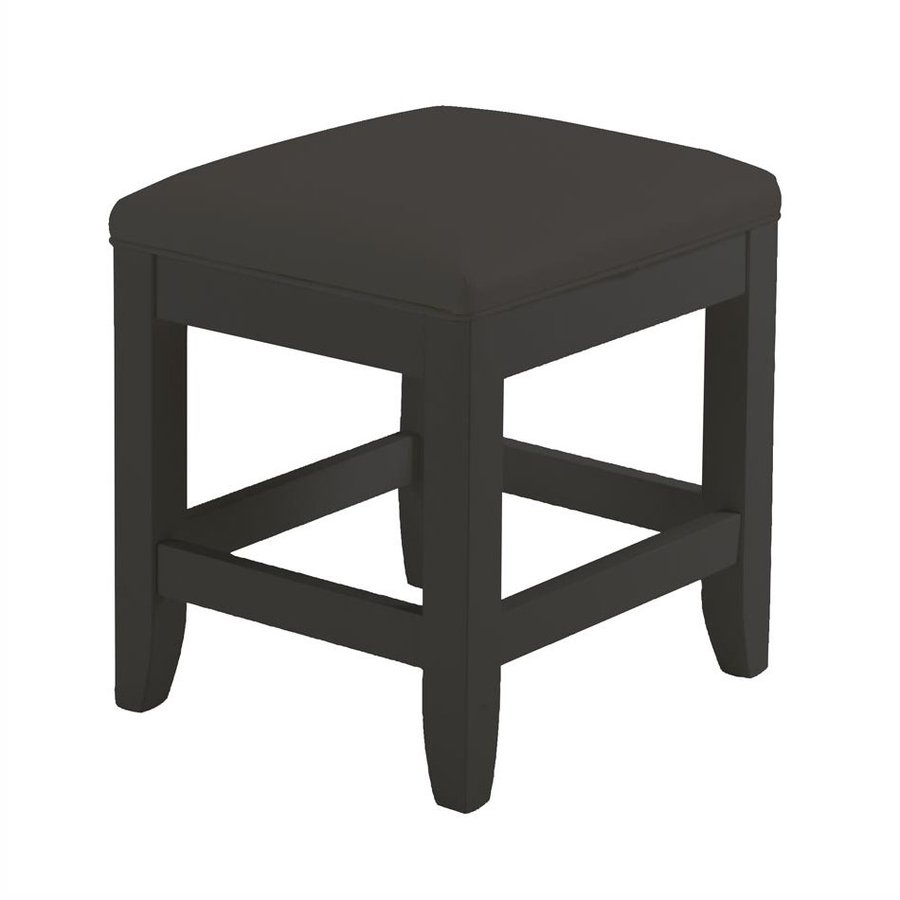Shop home styles 19 in h black rectangular makeup vanity stool at - Black and white vanity stool ...