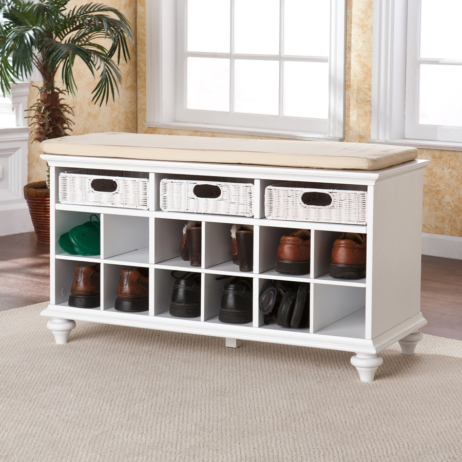 Boston Loft Furnishings Chelmsford White Indoor Storage Bench