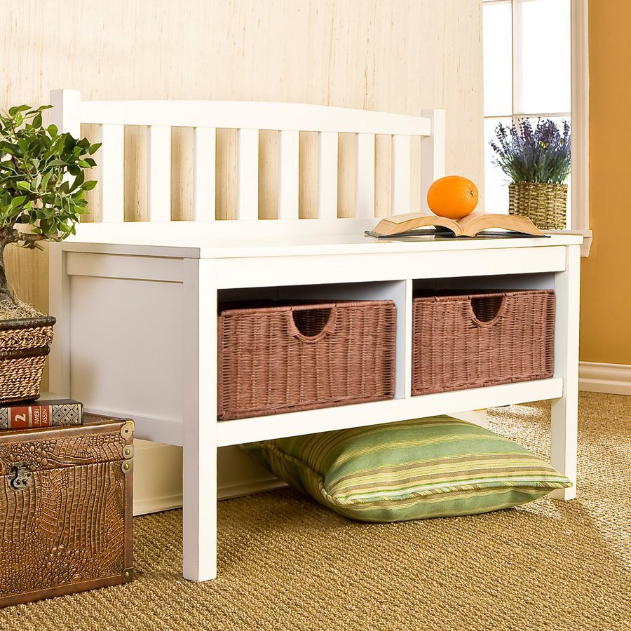 Shop Boston Loft Furnishings Country White Storage Bench At
